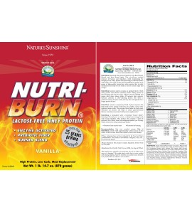Nutri-Burn® Vanilla (870 g) label