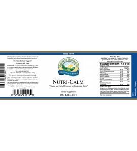 Nutri-Calm® (100 Tabs) label