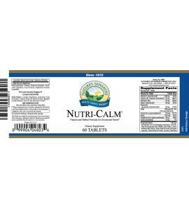 Nutri-Calm® (60 Tabs) label