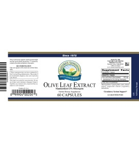 Olive Leaf Extract Concentrate (60 Caps) label