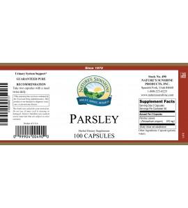 Parsley (100 Caps) label