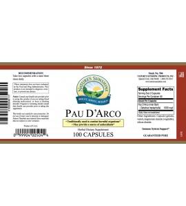 Pau D' Arco (100 Caps) label