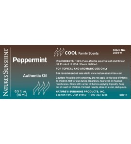 Peppermint Essential Oil (15 ml)