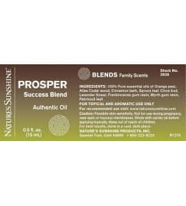 PROSPER Success Essential Oil Blend (15 ml) label