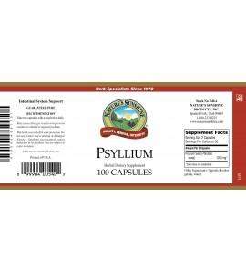 Psyllium (Seeds) (100 Caps) label