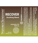 RECOVER Soothing Blend Roll-On (10 ml) label