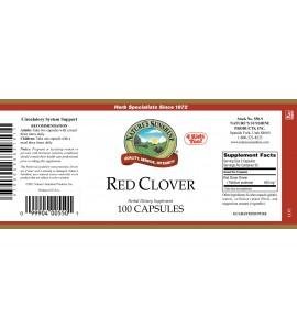 Red Clover (100 Caps) label