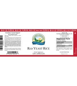 Red Yeast Rice (120 Caps) label