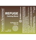 REFUGE Calming Blend Roll-On (10 ml) label
