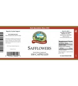 Safflowers (100 Caps) label