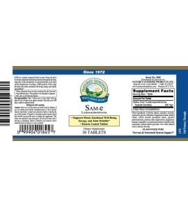 SAM-e (200 mg Active) (30 Tabs) label