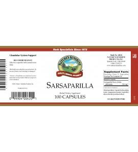 Sarsaparilla (100 Caps) label