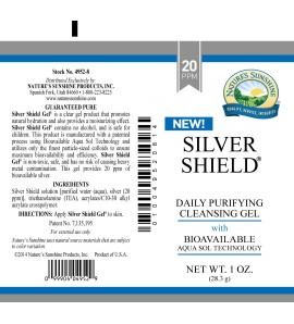 Silver Shield Gel (20 Ppm) (1 oz. Tube)