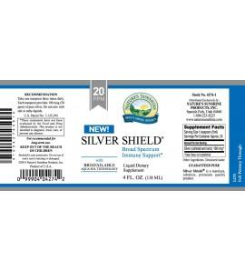 Silver Shield w/Aqua Sol (20 Ppm) (4 fl. oz.) label