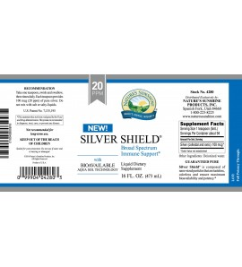 Silver Shield w/Aqua Sol (20 Ppm) (16 fl. oz.) label