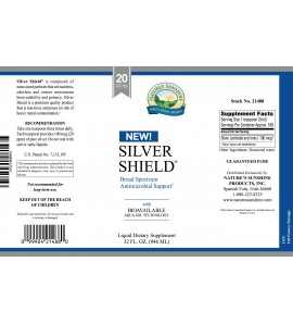 Silver Shield w/Aqua Sol (20 Ppm) (32 fl. oz.) label