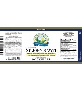 St. John's Wort Concentrate (100 Caps) label