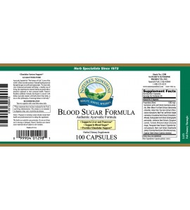Blood Sugar Formula, Ayurvedic (100 Caps)